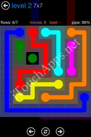 Flow Bonus Pack 7 x 7 Level 2 Solution