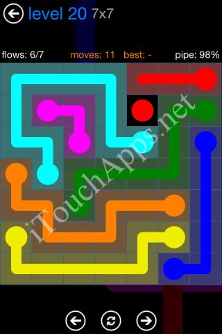 Flow Bonus Pack 7 x 7 Level 20 Solution