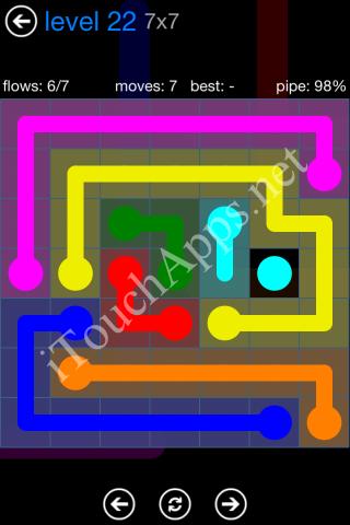 Flow Bonus Pack 7 x 7 Level 22 Solution