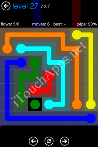Flow Bonus Pack 7 x 7 Level 27 Solution