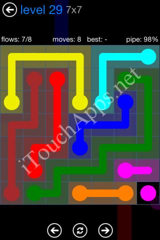 Flow Bonus Pack 7 x 7 Level 29 Solution