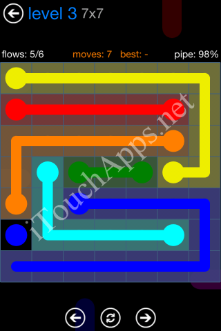 Flow Bonus Pack 7 x 7 Level 3 Solution
