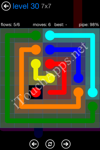 Flow Bonus Pack 7 x 7 Level 30 Solution
