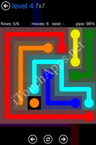 Flow Bonus Pack 7 x 7 Level 4 Solution