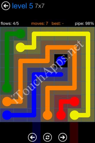 Flow Bonus Pack 7 x 7 Level 5 Solution