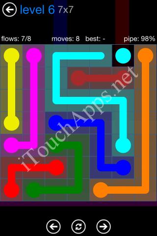 Flow Bonus Pack 7 x 7 Level 6 Solution