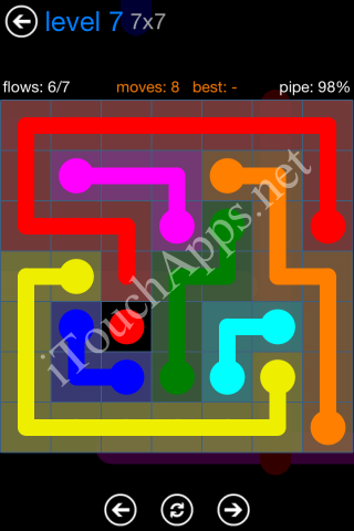 Flow Bonus Pack 7 x 7 Level 7 Solution