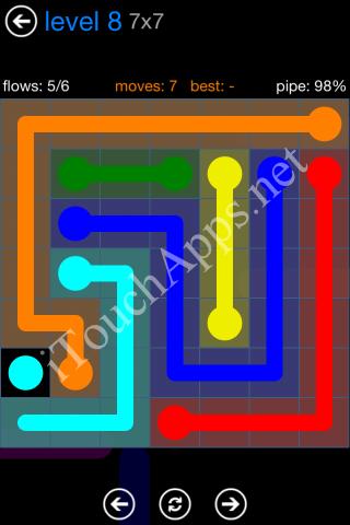 Flow Bonus Pack 7 x 7 Level 8 Solution