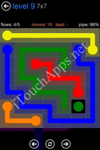 Flow Bonus Pack 7 x 7 Level 9 Solution