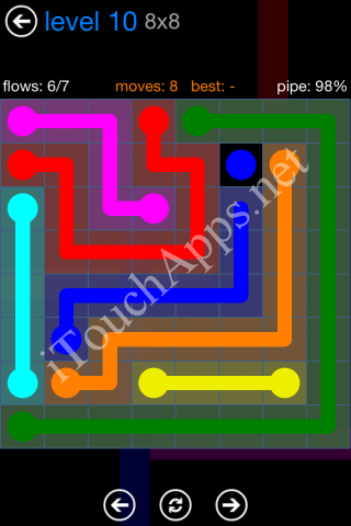Flow Bonus Pack 8 x 8 Level 10 Solution