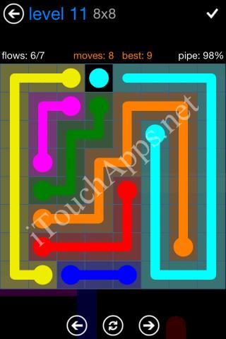 Flow Bonus Pack 8 x 8 Level 11 Solution