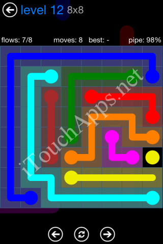 Flow Bonus Pack 8 x 8 Level 12 Solution