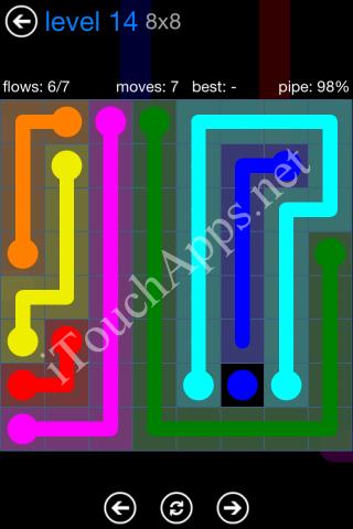 Flow Bonus Pack 8 x 8 Level 14 Solution