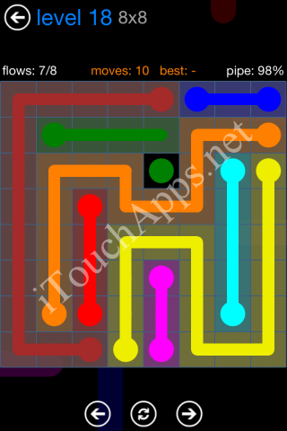 Flow Bonus Pack 8 x 8 Level 18 Solution