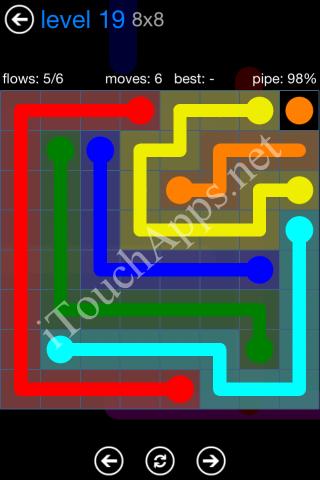 Flow Bonus Pack 8 x 8 Level 19 Solution