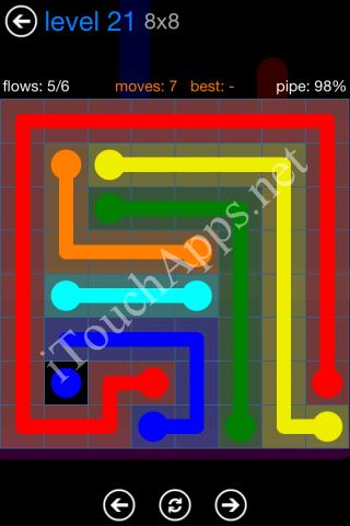 Flow Bonus Pack 8 x 8 Level 21 Solution