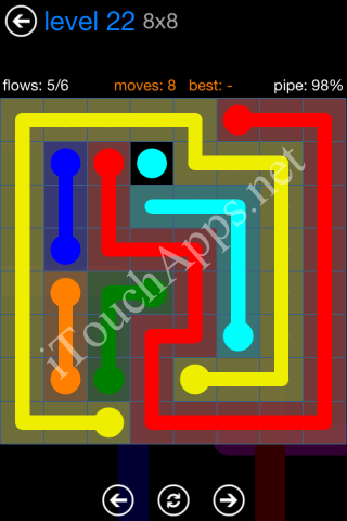 Flow Bonus Pack 8 x 8 Level 22 Solution