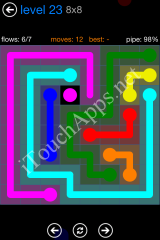 Flow Bonus Pack 8 x 8 Level 23 Solution