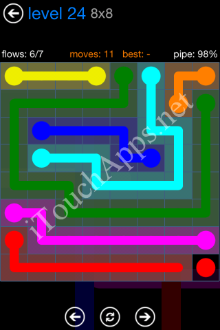 Flow Bonus Pack 8 x 8 Level 24 Solution