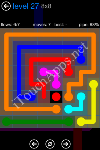 Flow Bonus Pack 8 x 8 Level 27 Solution