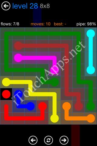 Flow Bonus Pack 8 x 8 Level 28 Solution
