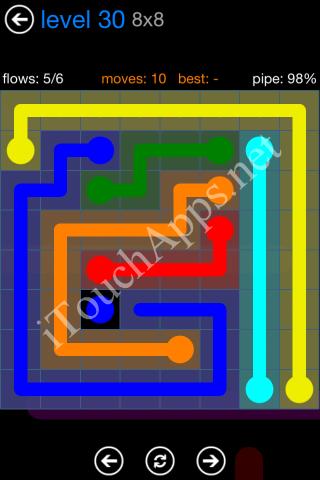 Flow Bonus Pack 8 x 8 Level 30 Solution