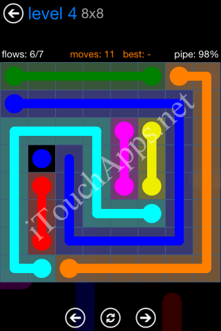 Flow Bonus Pack 8 x 8 Level 4 Solution