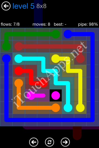 Flow Bonus Pack 8 x 8 Level 5 Solution