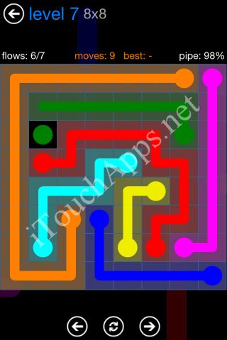 Flow Bonus Pack 8 x 8 Level 7 Solution