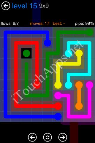 Flow Bonus Pack 9 x 9 Level 15 Solution