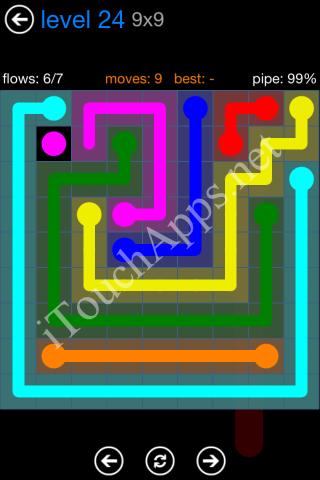 Flow Bonus Pack 9 x 9 Level 24 Solution