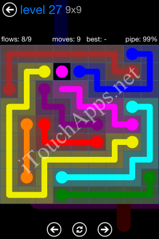 Flow Bonus Pack 9 x 9 Level 27 Solution
