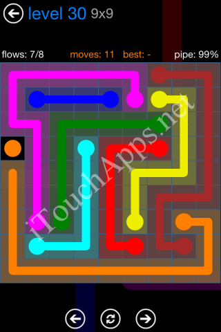 Flow Bonus Pack 9 x 9 Level 30 Solution
