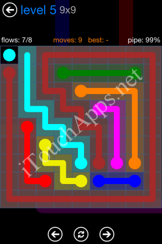 Flow Bonus Pack 9 x 9 Level 5 Solution