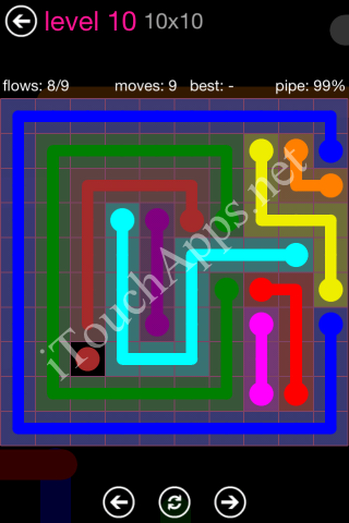 Flow Pink Pack 10 x 10 Level 10 Solution