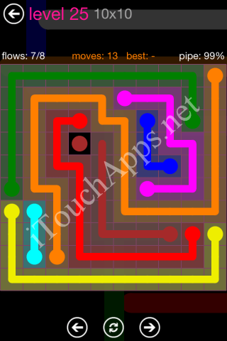 Flow Pink Pack 10 x 10 Level 25 Solution
