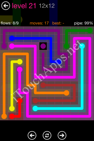 Flow Pink Pack 12 x 12 Level 21 Solution