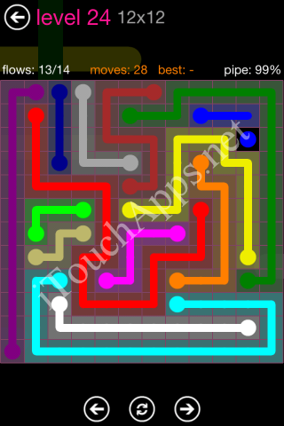 Flow Pink Pack 12 x 12 Level 24 Solution