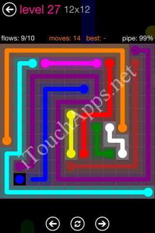 Flow Pink Pack 12 x 12 Level 27 Solution