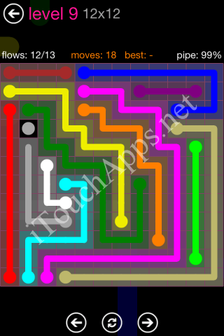 Flow Pink Pack 12 x 12 Level 9 Solution