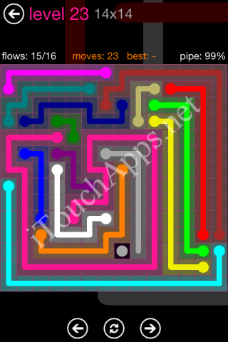 Flow Pink Pack 14 x 14 Level 23 Solution