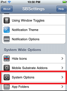 SBSettings - How to Check Ipod Touch Battery Percentage
