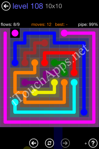 Flow Game 10x10 Mania Pack Level 108 Solution