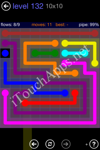 Flow Game 10x10 Mania Pack Level 132 Solution