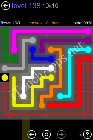 Flow Game 10x10 Mania Pack Level 138 Solution