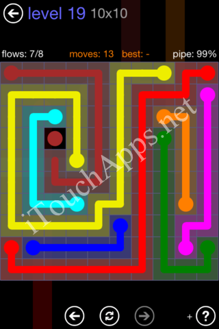 Flow Game 10x10 Mania Pack Level 19 Solution
