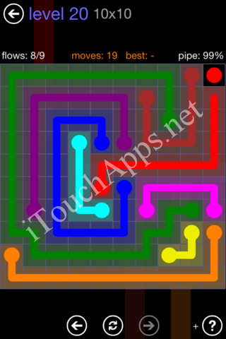 Flow Game 10x10 Mania Pack Level 20 Solution