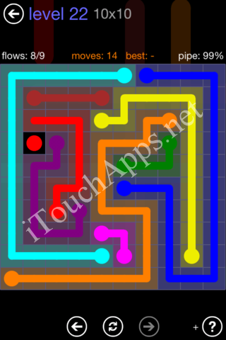 Flow Game 10x10 Mania Pack Level 22 Solution