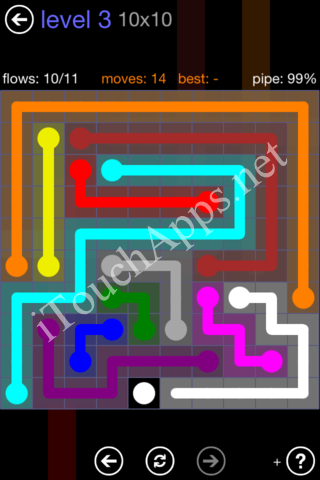 Flow Game 10x10 Mania Pack Level 3 Solution