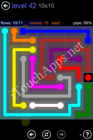 Flow Game 10x10 Mania Pack Level 42 Solution